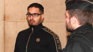 Jawad Bendaoud arrives at in court on 21 November, 2018.