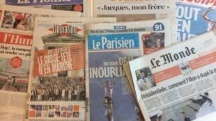Primeiras páginas dos jornais franceses desta sexta-feira 21 de Julho de 2017