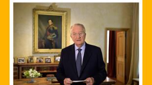 Albert II annonce son abdication à la nation, le 3 juillet 2013.
