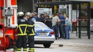 德国汉堡砍人案街区2017年7月28日