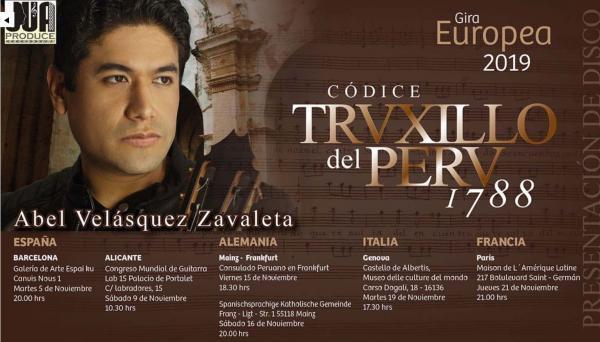 Cartel de la gira europea de Abel Velázquez Zabaleta