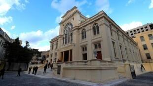La synagogue Eliyahu Hanavi d'Alexandrie, après sa restauration par le gouvernement égyptien, le 10 janvier 2020.