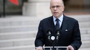 Bernard Cazeneuve, Ministro do Interior. Imagem de Arquivo.