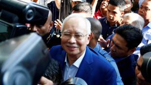 Cựu thủ tướng Malaysia Najib Razak lúc đến Cơ quan chống tham nhũng - MACC. Ảnh ngày 22/05/2018.