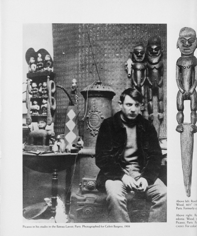 Пабло Пикассо в парижском ателье в Бато-Лавуар, 1908 г. Burgess Gelett Frank (1866-1951) © Droits réservés ©RMN-Grand Palais (musée Picasso de Paris) / Madeleine Coursaget