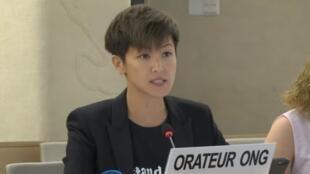香港歌手何韵诗在联合国人权理事会发言谴责北京不惜一切代价阻止香港民主