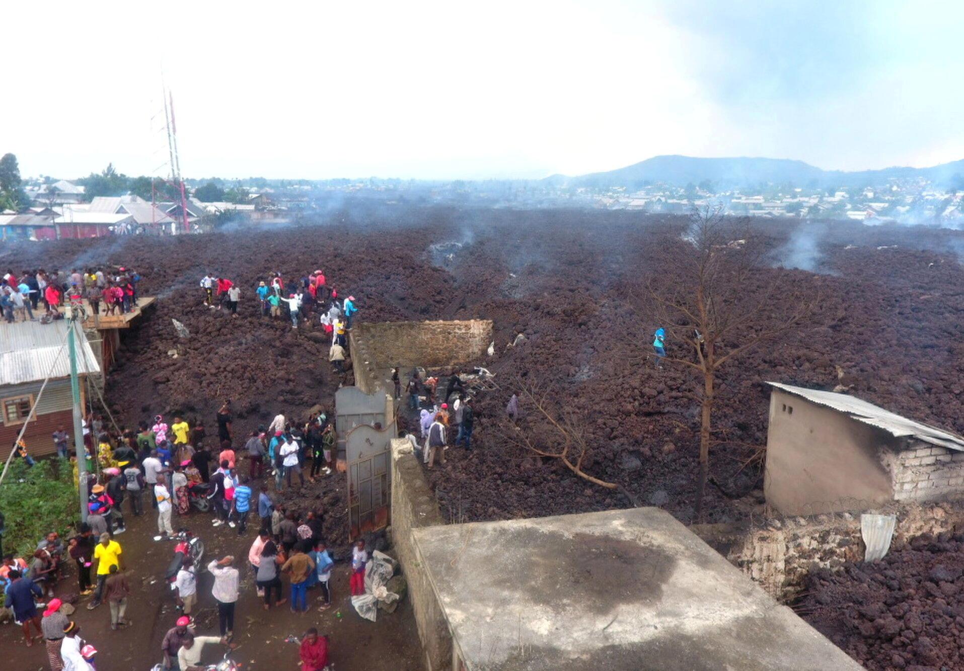 IMAGE RDC La coulée est arrivée aux portes de la ville de Goma, mai 2021.