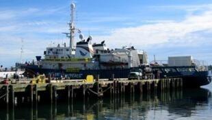 L'« Esperenza », est le navire de Greenpeace.
