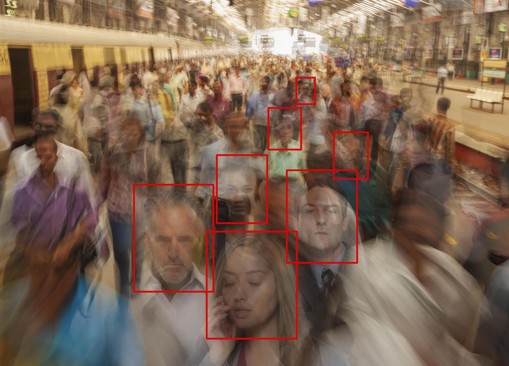 De nombreux lieux de notre vie quotidienne sont scrutés en permanence par des dispositifs sécuritaires basés sur la reconnaissance faciale. (Photo d'illustration)