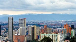 Vue de la capitale Bogota, en Colombie.