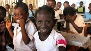Des enfants réfugiés dans le camp de Molé, en RDC.