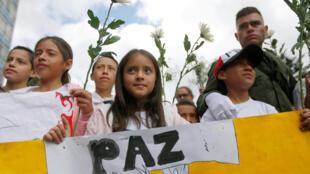 Marcha contra a violência, 20 de janeiro de 2019, em Bogotá