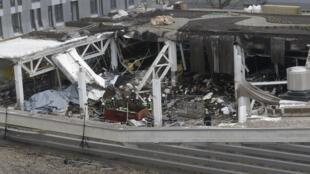 Quang cảnh vụ sập siêu thị tại Riga, cộng hòa Latvia hôm 21/11/2013