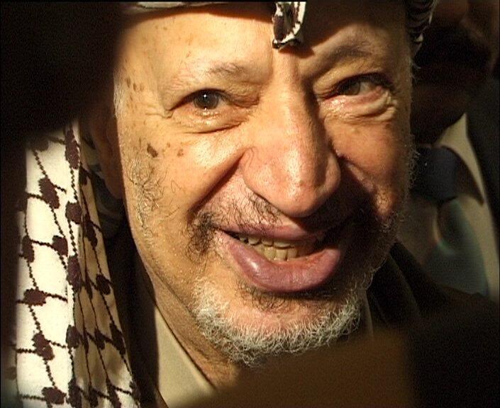 O ex-líder da Autoridade Nacional Palestina, Yasser Arafat, morto em 2004.