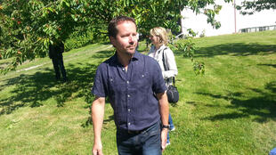 Pascal Crevel, arboriculteur au Mesnil-sous-Jumièges en Seine-Maritime.