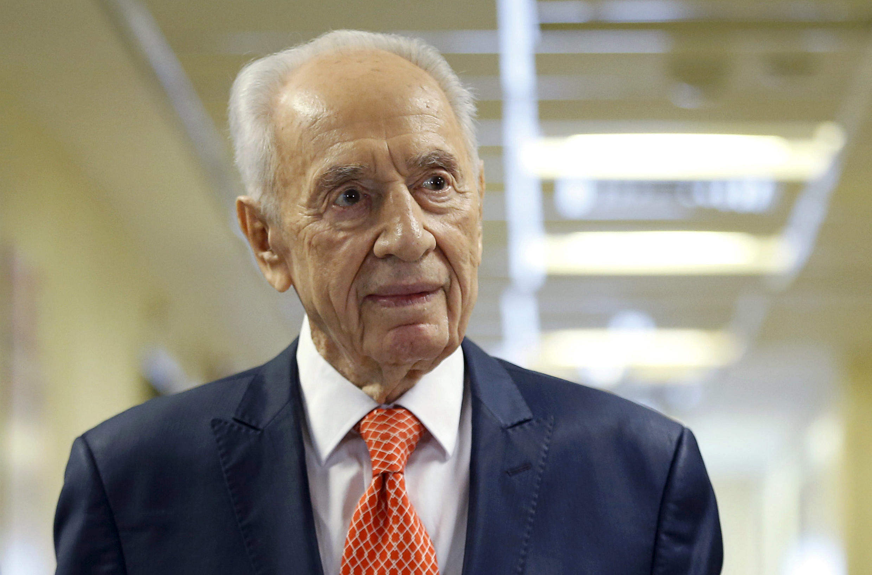 O antigo presidente israelita Shimon Peres, aqui em Janeiro de 2016.