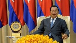 Le Premier ministre du Cambodge Hun Sen, à Phnom Penh, le 29 mars 2016.