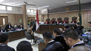 Le gouverneur de Jakarta, Basuki Tjahaja Purnama, surnommé «Ahok», pendant la première audience de son procès, le mardi 13 décembre 2016 à Jakarta.