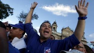 El movimiento popular contra la corrupción llevó a Jimmy Morales al poder.