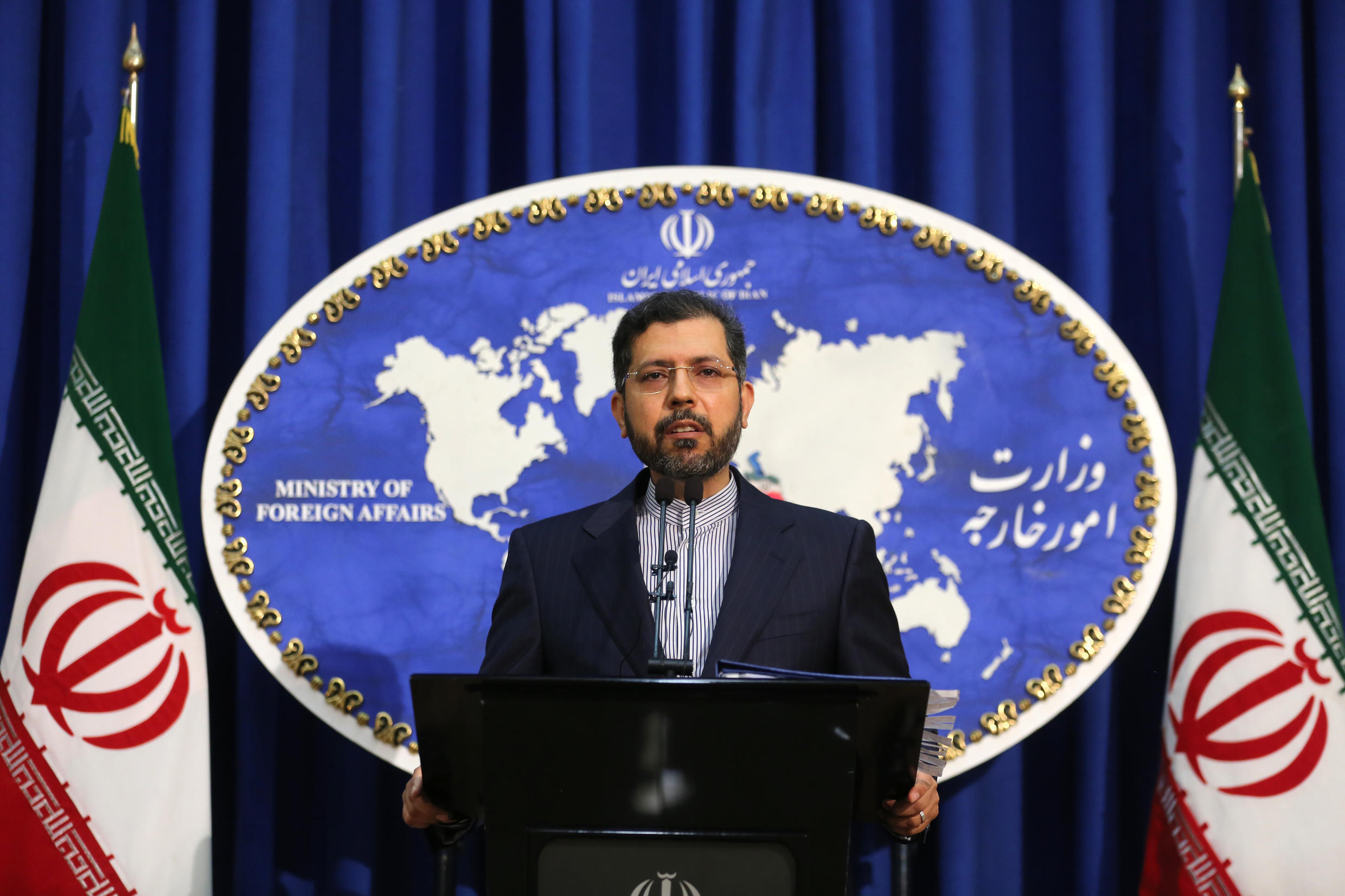 Iranian foreign ministry spokesman Saeed Khatibzadeh said Iran had ruled out a meeting proposed by the European Union on the troubled 2015 nuclear deal