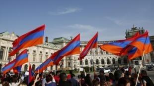 Tuần hành vì hòa bình cho Nagorno-Karabakh, tại Vienna, Áo, ngày 05/04/2016