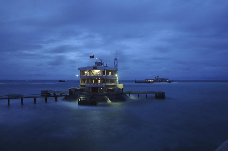 Ảnh tư liệu: Đảo Đá Tây, quần đảo Trường Sa, Biển Đông, chụp năm 2019.