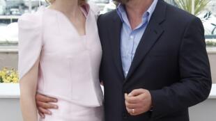 """Hai diễn viên chính trong phim """"Hiệp sĩ rừng xanh Robin Hood"""", Cate Blanchett và Russel Crowe."""