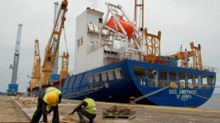 Au Gabon, les cargaisons restent bloquées au port suite à la grève des douaniers (Photo d'illustration).