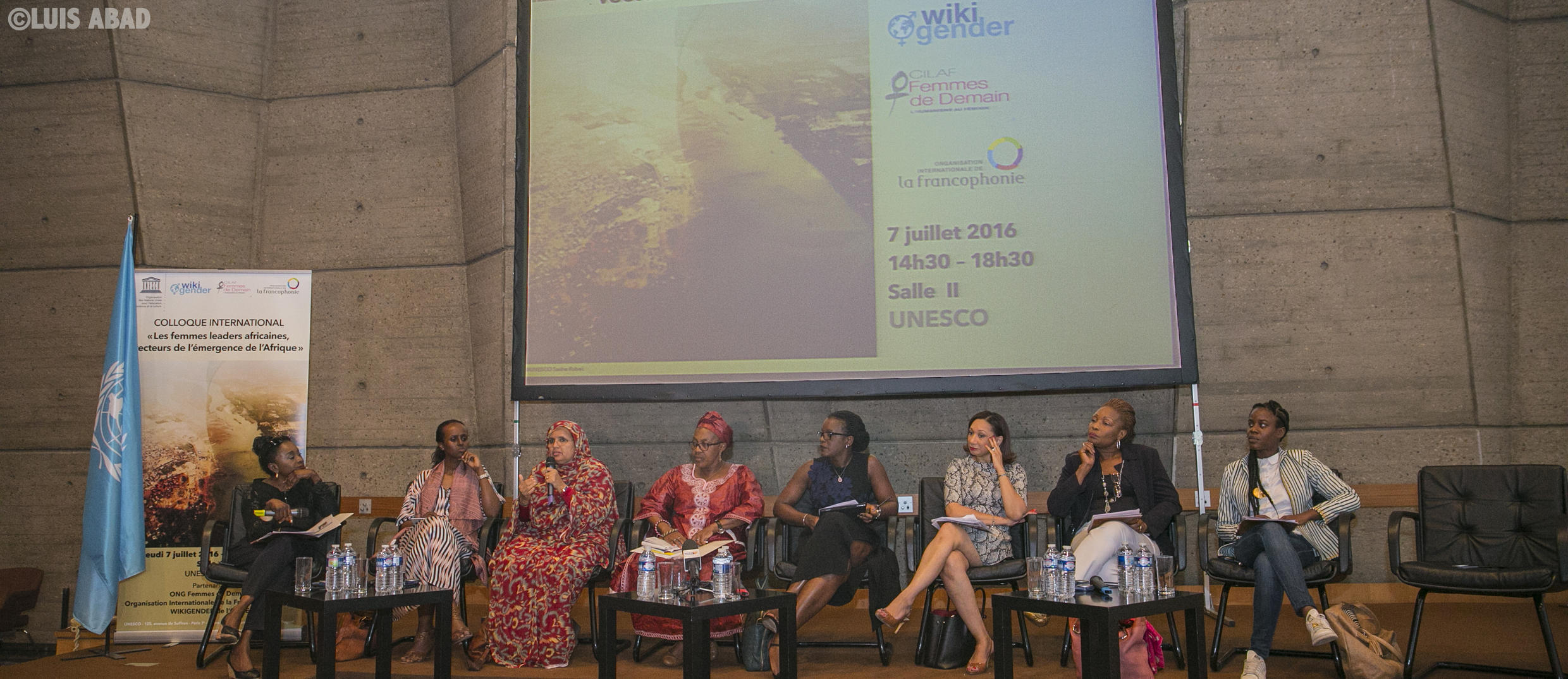 African female leaders share their experiences of leadership at Unesco (Janine Kacou Diagou is fifth from left)