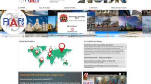 Page d'accueil de la Fédération internationale des accueils français et francophones d'expatriés.