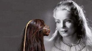 Detalle del afiche de la exposición 'Cheveux chéris'.