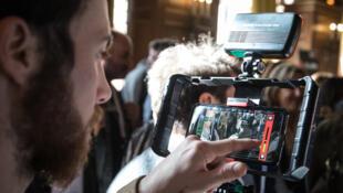 Un participant aux 3èmes Rencontres francophones de la vidéo mobile.