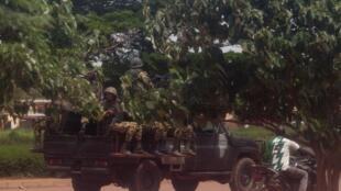 Membres de l'ex-Régiment de sécurité présidentielle, à Ouagadouguou, le 17 septembre 2015, au Burkina Faso.