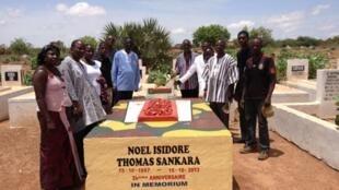 Akwatin gawar tsohon shugaban kasar Burkina Faso Thomas Sankara da aka tono