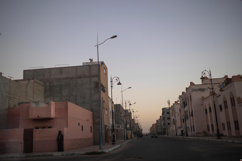 Daklha - vue - rue - Sahara Occidental - image d'illustration