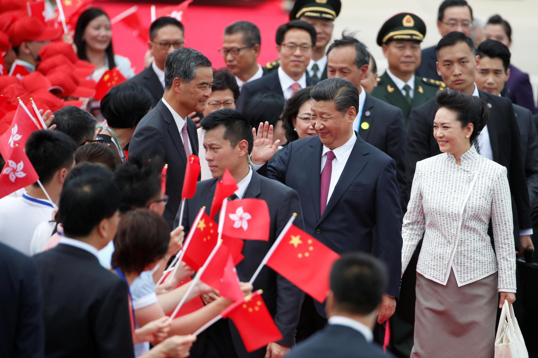 O Presidente chinês, Xi Jinping, chegou esta quinta-feira a Hong Kong