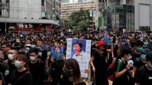 Cuộc tuần hành tại khu Mongkok, Hồng Kông, chống luật dẫn độ ngày 03/08/2019.
