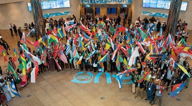 At the 2014 One Young World summit in Dublin, Ireland