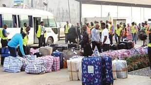 Nigerian returnees shortly after arrival at Murtala Muhammed International airport, Lagos, 11th September 2019