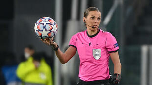 France's Stephanie Frappart became the first woman to referee a men's Champions League game