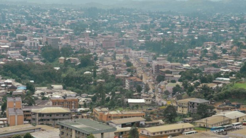 Vue de Bamenda, capitale du Nord-Ouest camerounais.