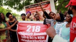 Kungiyar BringBackOurGirls (#BBOG) da ke fafutikar ganin an sako 'yan matan Chibok