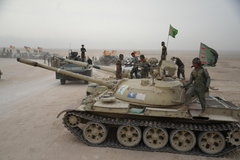 Lực lượng Irak trong chiến dịch chống quân thánh chiến ở khu vực phía nam Mossoul, al-Shura, ngày 28/10/2016.
