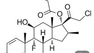 激素氯倍他索丙酸脂化学公式图
