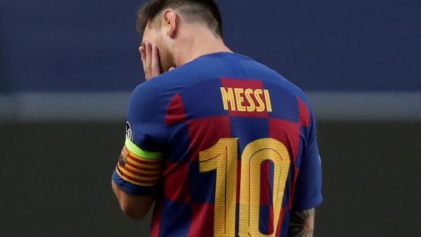 Lionel Messi, impuissant lors de l'humiliation historique subie le 14 août 2020 par le Barça face au Bayern.