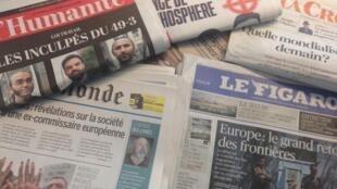 Capas dos diários franceses 22/09/2016