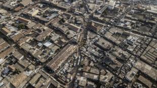 Le centre-ville de Kaolack au Sénégal.