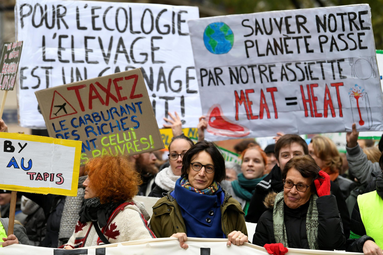 Manifestación contra el cambio climático el 8 de diciembre en París.