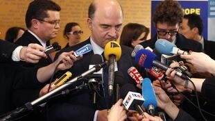 French Finance Minister Pierre Moscovici in Strasbourg this week