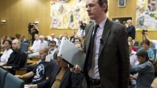 Le fondateur de Wikileaks, Julian Assange, à Stockholm,le 14 août 2010.